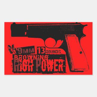 Browning Hi-Power Rectangular Sticker