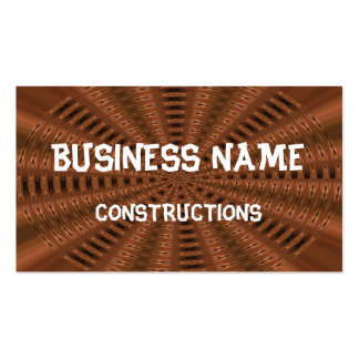 Brownish abstract modern pattern business card