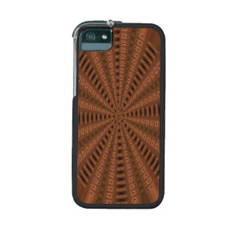 Brownish abstract modern pattern iPhone 5/5S case