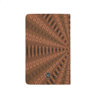 Brownish abstract modern pattern journal