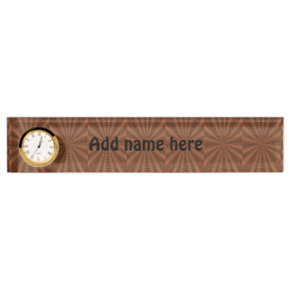 Brownish abstract modern pattern nameplate