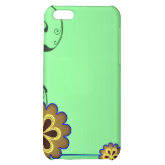 Brownish blossom and Greenish swirls Case For iPhone 5C