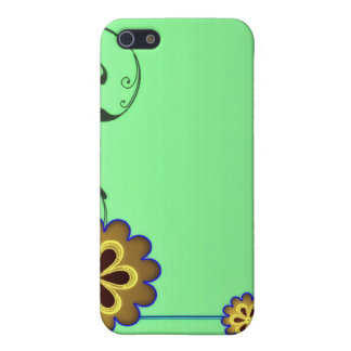 Brownish blossom and Greenish swirls iPhone 5 Covers