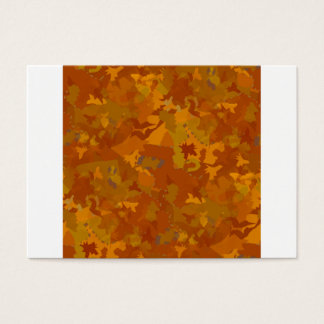 brownish camouflage pattern oak coloring business card