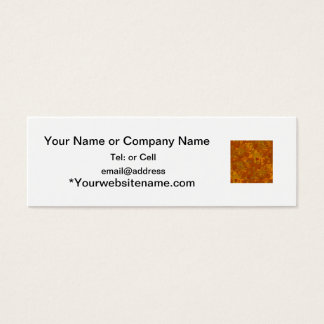brownish camouflage pattern oak coloring mini business card
