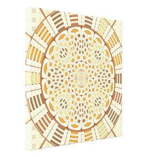 Brownish mandala canvas print