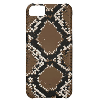 Brownish rattlesnake skin iPhone 5C cases