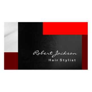 Brownish Red Grey Hair Style Makeup Artist Business Card