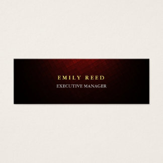 Brownish red modern simple professional slim mini business card