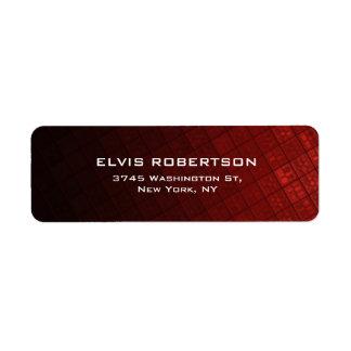 Brownish Red Plain Elegant Contemporary Unique Label