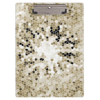 Brownish Yellow Mosaic Scattering Crystal Floor Clipboards