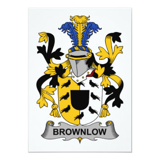 Brownlow Family Crest Card