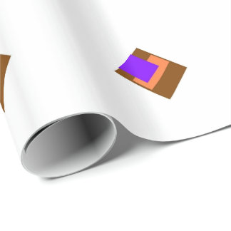 BrownOrangePurple Wrapping Paper