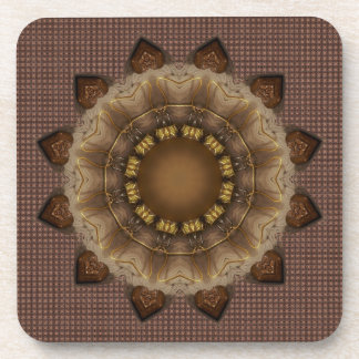 Browns And Beige Coaster