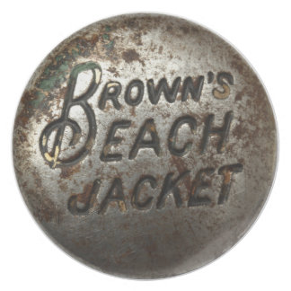 Brown's Beach Jacket Party Plate