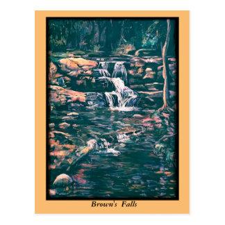 Brown's Falls with orange frame Postcard