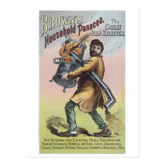 Browns Household Panacea Postcard