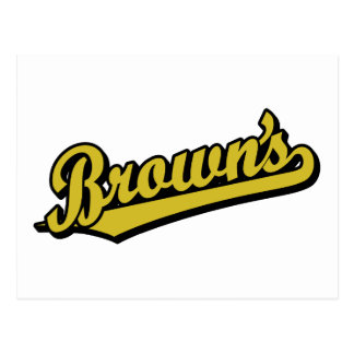 Brown's in Gold Postcard