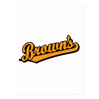 Brown's in Orange Postcard