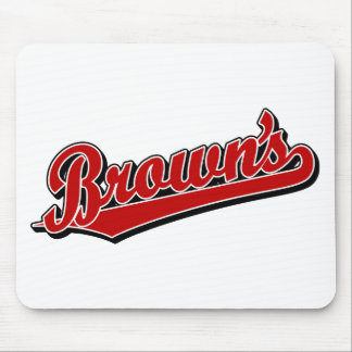 Brown's in Red Mouse Pad