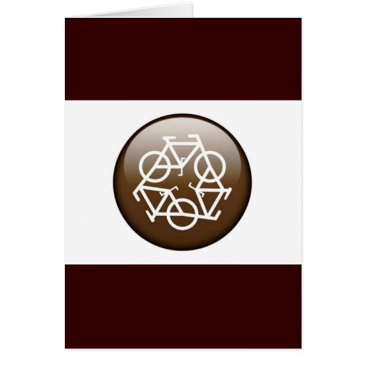 Browns recycle symbol greeting card