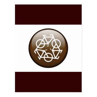 Browns recycle symbol postcard