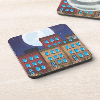 Brownstone Buildings Drink Coaster