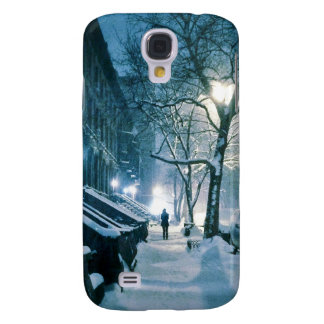 Brownstones Blanketed In Snow Samsung Galaxy S4 Cover