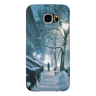 Brownstones Blanketed In Snow Samsung Galaxy S6 Case