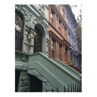 Brownstones, Upper West Side, New York City Postcard