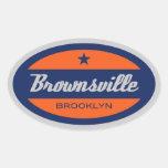 Brownsville Calcomanía De Oval
