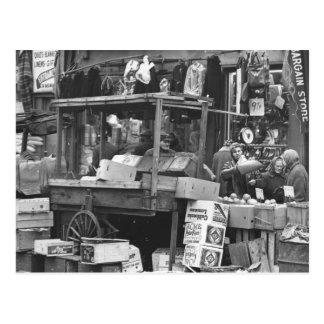 Brownsville market, Brooklyn: 1962 Postcard