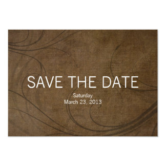 Browntone 5x7 Photo Save the Date Wedding Cards