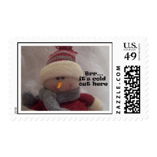 Brr...it's cold Snowman post stamps