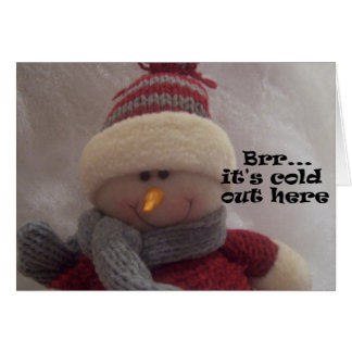 Brr...Snowman Greeting Cards