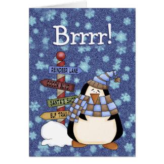 Brrr!  Seasons Greetings custom card