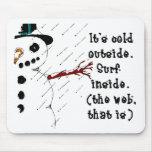 Brrr Snowman Mouse Mats