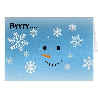 Brrr… tarjeta del muñeco de nieve