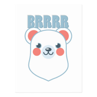 Brrrr Bear Postcard