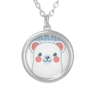 Brrrr Bear Silver Plated Necklace
