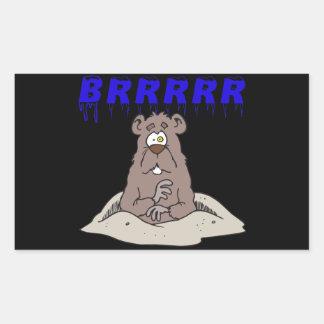Brrrrr Rectangular Sticker