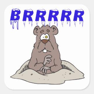 Brrrrr Square Sticker