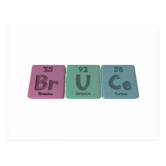 Bruce as Bromine Uranium Cerium Postcard