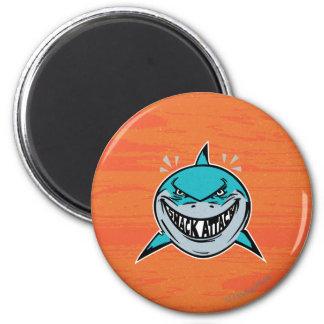 Bruce - ataque del tiburón imán redondo 5 cm