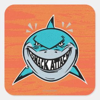 Bruce - ataque del tiburón pegatina cuadrada