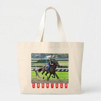 Bruce Brown Workouts at Saratoga Large Tote Bag