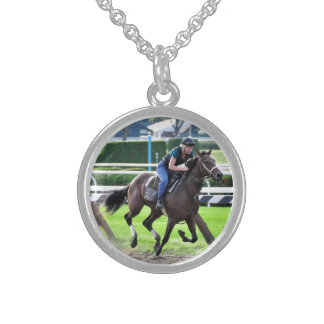 Bruce Brown Workouts at Saratoga Round Pendant Necklace