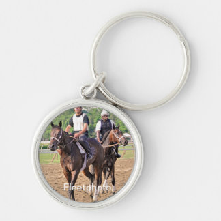 Bruce Brown Workouts Silver-Colored Round Keychain