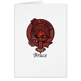 Bruce Clan Crest Greeting Card