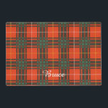 "Bruce clan Plaid Scottish tartan Placemat<br><div class=""desc"">A lovely design based on the real Scottish tartan</div>"